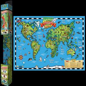 Popar-World-Map-Wonders-Landmarks-Smart-Chart